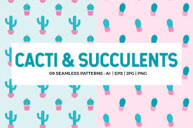 <b>Cactus</b> Seamless <b>Patterns</b> Collection in <b>Patterns</b> on Yellow Images ...