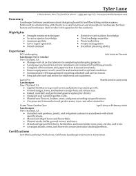 best landscaping resume example livecareer create my resume