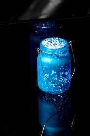 blue mercury glass mason jar with metal holder blue mason jar string lights