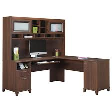 beautiful mainstays l shaped desk with hutch in brown plus computer set for home office furniture beautiful home office shaped