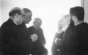 Image result for Photo of Archbishop Lefebvre with Padre Pio