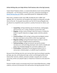 online writing jobs com helps writers lance jobs in the online writing jobs com helps writers lance jobs in the gig economy