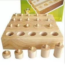 <b>New Wooden</b> Toy <b>Baby Montessori</b> Cylinder Blocks for Early ...