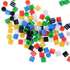 <b>100pcs</b>/<b>lot Colors Plastic</b> Cap Hat 6*6mm A56 Tactile Push Button ...