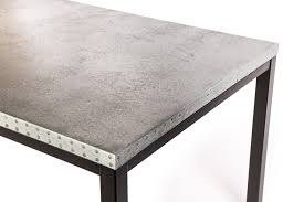 images zinc table top: product description the brooklyn zinc top dining table