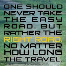 Right Road quote #2