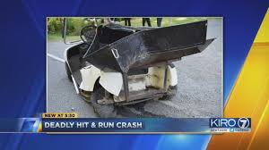 Golf cart driver killed in hit-and-run crash on Key Peninsula | KIRO-TV