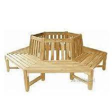 Teak Garden Furniture Of <b>Tree Bench Half Hexagonal</b> | Teak garden ...
