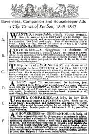victorian contexts governess companion and housekeeper ads
