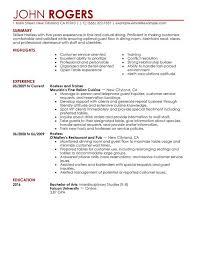 waitress resume skills examples waiter resume sample no experience waiter resume examples
