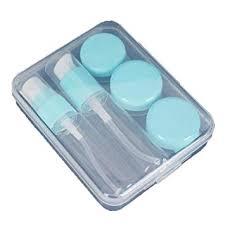 1 Set Portable Blue Empty Travel Refillable Bottle for ... - Amazon.com