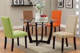 dining room splendid round black wood table glass top table glass flower vase colorful dining chair black ikea glass top