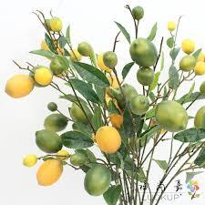 <b>1 PCS</b> 89 cm <b>Beautiful Artificial</b> Plastic Lemon Fruit Branch Home ...