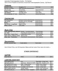 resume scott kimber cinematographer scott kimber dp resume1