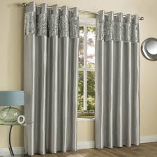 Silver Curtains For Bedroom Amalfi Crushed Velvet Fully Lined Ring Top Curtains Silver Grey