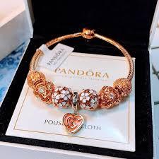 100% orgional Pandora charms bracelet New <b>hot sell</b> set sterling ...