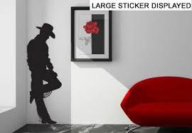 Wallpaper & Accessories John Wayne <b>Silhouette</b> Wall Art <b>Sticker</b> ...