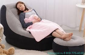 <b>Надувное кресло</b> с пуфиком <b>INTEX 68564</b> - купить кресла ...