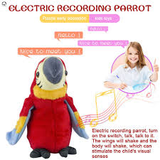 <b>26cm Electric Plush Simulation</b> Parrot Toy Macaw Toy Cute Parrot ...