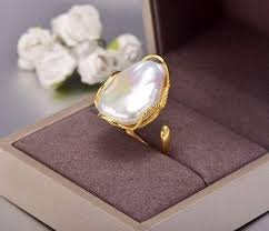 Vintage Unique <b>Baroque Pearl 925 Silver</b> Ring – Almas Collections