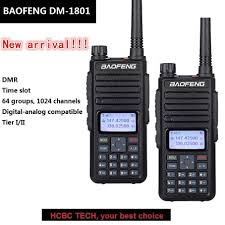 2PCS <b>Baofeng</b> DMR <b>DM 1801 Walkie Talkie</b> 10 KM UHF VHF ...