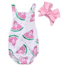 <b>2017 Summer</b> Baby <b>Girls Clothes</b> Sleeveless Watermelon Infant ...