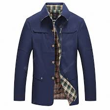 Men's <b>Autumn</b> Single Breasted Cotton Casual Medium and Long ...