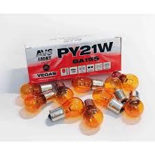 """<b>Лампа AVS Vegas</b> 12V. <b>PY21W</b>(BAU15S)""""orange"""" 10шт. BOX"""