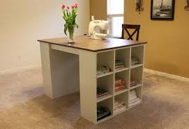 its the best of both worlds ample workspace and easy storage build the cubby bookshelves alone or add the project tabletop for even more functionality ana white build office