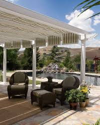 enclosure incredible patio shade covers outdoor with ceramic plant pots outdoor and brown seat cushions on brown covers outdoor patio