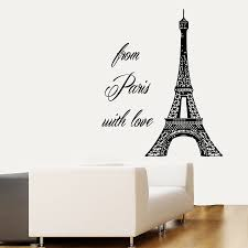 sun wall decal trendy designs:  real wall decals from paris with love eiffel tower vinyl sticker france decoration for bedroom