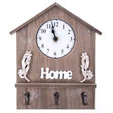 <b>Панно</b>-<b>ключница с часами Sweet</b> Home, 28х22см, дерево купить в ...