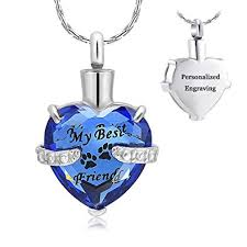 constantlife Cremation Jewelry for Ashes, Heart <b>Shape</b> Memorial ...