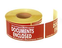 Documents Enclosed <b>Labels</b> - <b>136mm</b> x 50mm | Priory Direct