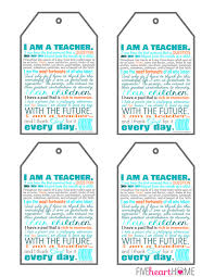 Teacher Appreciation Printables ~ 8×10″ Print, Note Cards, & Gift ...