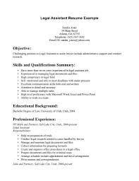 legal secretary cv example sample resume for inexperienced legal legal assistant resume