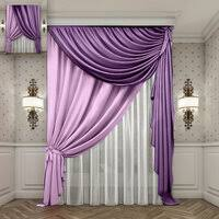 «Готовые шторы и тюли: 1.02; Фиолетовый; Рассеивание света ...