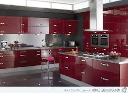 modular kitchen colors: high gloss kitchen designs  lucido red high gloss kitchen designs