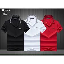 <b>HUGO BOSS printing</b> Polo shirt lapel fashion casual t-shirt | Shopee ...