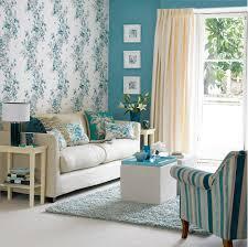 Wallpaper Decoration For Living Room Retro Floral Wallpaper Design Ideas For Small Living Room With
