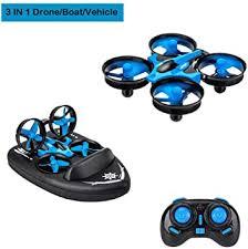 Goolsky <b>JJRC</b> H36F TERZETTO <b>3</b> in <b>1</b> Drone Boat Car <b>Water</b> Mode ...
