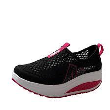 Bokeley Breathable Sneaker, Ladies Toning Rocker ... - Amazon.com