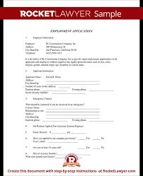 employment application form application template