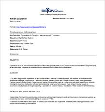 carpenter resume template –   free word  excel  pdf format    finish carpenter resume free pdf download