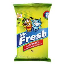 Mr. Fresh <b>Expert Салфетки влажные</b>, антибактериальные, 15 шт