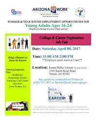 city of az calendar of events meetings college and career exploration job fair rev 02 24 17