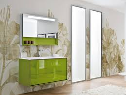 high gloss lacquer bathroom cabinet design