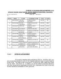 appointment letters issued by crpf details student forum appointment letters issued by crpf