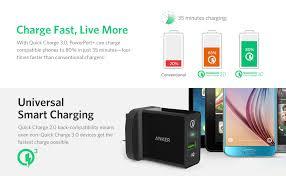 <b>Quick Charge</b> 3.0, Anker 18W 3Amp <b>USB</b> Wall <b>Charger</b>: Amazon.co ...