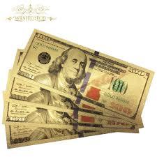 10Pcs/Lot Colorful <b>USA</b> Banknotes <b>100 Dollar Bills</b> Bank Note in ...